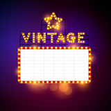 Retro Vintage Billboard Vector Stock Image