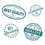 Retro vintage blue stamps. Vector eps 10 Stock Photography