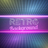 Retro Vintage 1980 Bright Neon Color Background Stock Photography
