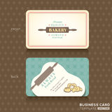 Retro vintage business card for bakery house Stock Photography