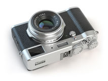 Retro vintage camera   on white. Royalty Free Stock Photography
