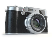 Retro vintage camera   on white Stock Photography