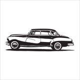 Retro vintage car Stock Images