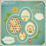 Retro Vintage Card with Easter Set Royalty Free Stock Image