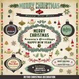 Retro and vintage Christmas decoration Royalty Free Stock Photos