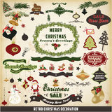 Retro and vintage Christmas decoration Stock Images