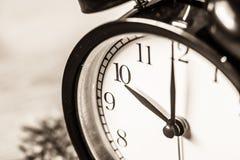 Retro vintage clockat 10 o`clock Royalty Free Stock Images