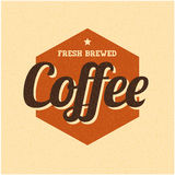 Retro Vintage Coffee Background with Typography. Vector Stock Images