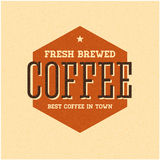 Retro Vintage Coffee Background with Typography. Vector Stock Photo