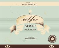 Retro Vintage Coffee Background,  vector illustration Stock Image