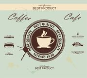 Retro Vintage Coffee Background, vector Royalty Free Stock Photography