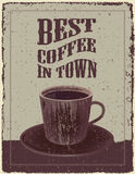Retro-Vintage Coffee Poster Stock Images