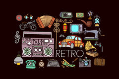 Retro and vintage concept for web design template Royalty Free Stock Image