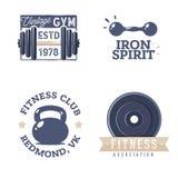 Retro Vintage design for a gym logotypes stock illustration