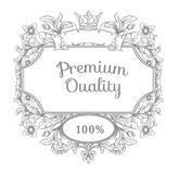 Retro vintage emblem. Royalty Free Stock Image