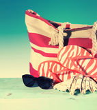 Retro vintage filter Summer vacation holiday gear Stock Image