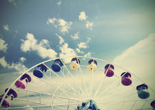 Retro vintage filtered picture of a carousel. Stock Images