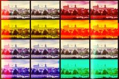 Retro vintage filtered postcard of Szczecin riverside view. Stock Photography