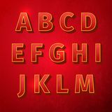 Retro vintage font. Alphabet retro colour style. Vector illustration, EPS Royalty Free Stock Photography