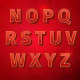 Retro vintage font. Alphabet retro colour style. Vector illustration, EPS Royalty Free Stock Images