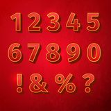 Retro vintage font. Numbers retro colour style. Vector illustration, EPS Royalty Free Stock Photos
