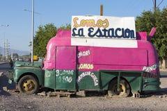 Retro vintage food truck, Argentina Stock Photo