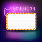 Retro vintage frame banner promotion Stock Images