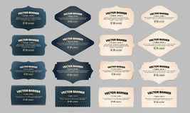 Retro vintage frames. Collection vector illustration. Vector set vintage labels. Vector illustration EPS 10 royalty free illustration