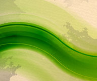 Retro vintage green wave abstract background Royalty Free Stock Image