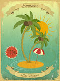 Retro Vintage Grunge Summer Vacation Postcard Royalty Free Stock Image