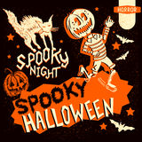 Retro Vintage Halloween Elements Royalty Free Stock Images