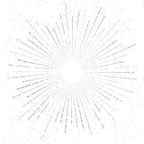 Retro Vintage Hand Drawn Sunburst Star Flare Stock Photo