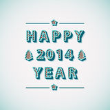 Retro Vintage Happy New Year Greeting Card. Illustration Vector Illustration