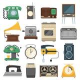 Retro vintage household appliances vector set Stock Image