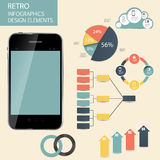 Retro vintage Infographic template business vector Royalty Free Stock Images