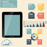 Retro vintage Infographic template business vector Stock Photos