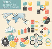 Retro vintage Infographic template business vector Stock Photography
