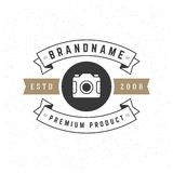 Retro Vintage Insignia or Logotype Vector design Royalty Free Stock Photo