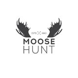 Retro Vintage Insignia or Logotype Vector design element, business sign template. Deer hunting. Hunting for elk. Moose hunting. Royalty Free Stock Image