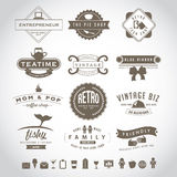 Retro vintage insignia set Royalty Free Stock Photos