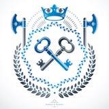 Retro vintage Insignia. Vector design element. Royalty Free Stock Image