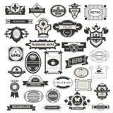 Retro Vintage Insignias or Logotypes set. Royalty Free Stock Photo