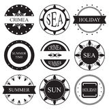 Retro vintage insignias or logotypes set.  design element Royalty Free Stock Photography
