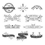 Retro Vintage Insignias or Logotypes set with royalty free illustration