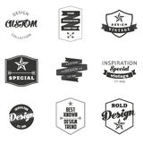 Retro Vintage Insignias or Logotypes set. Vector Stock Photography