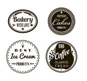 Retro Vintage Insignias or Logotypes set. Vector design elements, business signs, logos, identity, labels, badges and Stock Images