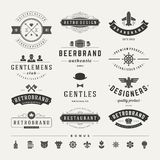 Retro Vintage Insignias or Logotypes set vector Royalty Free Stock Images