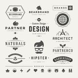 Retro Vintage Insignias or Logotypes set vector Royalty Free Stock Photography