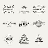 Retro Vintage Insignias or Logotypes set. Vector Royalty Free Stock Photo