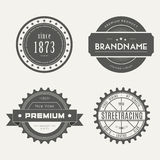Retro Vintage Insignias or Logotypes set. Vector Royalty Free Stock Photos